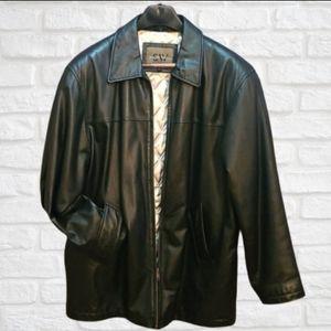 Men's Leather Jacket, lined, black